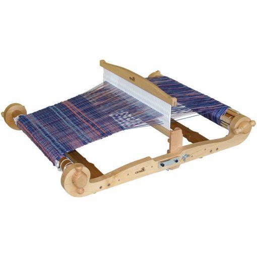 16 inch Kromski Harp Forte with weaving in place