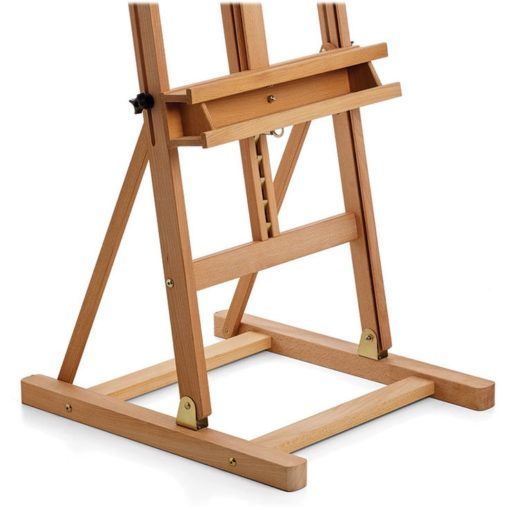 Easel with storage shelf
