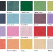 Colour chart for Mulberry Tissue Paper