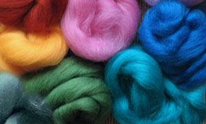 Merino wool tops for feltmaking