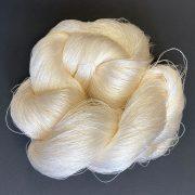 Fine silk weaving yarn