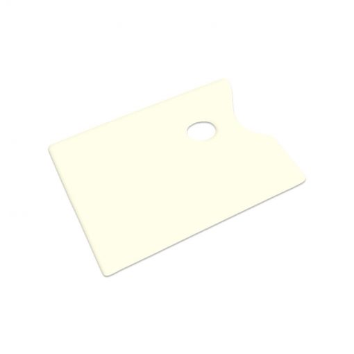 Plastic palette with thumb hole