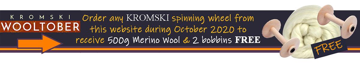 Kromski Wooltober Spinning Wheel Offer